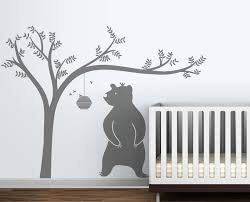 Large Honeyland Wall Decals White Tree Decal With Cute Bear Wall Decal For Kids Baby Nursery Rooms Vinyl Wall Stickers Art A232 Wall Decals For Bedroom Wall Decals For Bedrooms From Totwo3