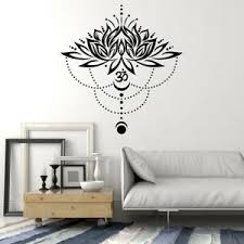 Vinyl Wall Decal Lotus Yoga Zen Relax Om Flower Meditation Room Stickers G147 Ebay