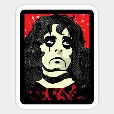 Alice Cooper Celebrity Portrait Sticker Teepublic Uk