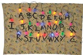 diy stranger things alphabet wall