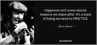 brian johnson quote happiness isn t some elusive treasure we