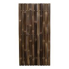 Black Bamboo Fence Panel Giant 90 X 180 Cm