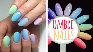 How To Do Rainbow Ombre Nails Teczowe Paznokcie My