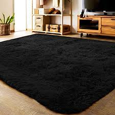 Mengh 56 X59 Fluffy Rug Ultra Soft Kids Room Carpet Anti Skid Washable For Home Decorate Black Educational Toys Planet