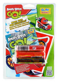 ANGRY BIRDS GO - CLAY BUDDIES BLISTER PACK- RED BIRD