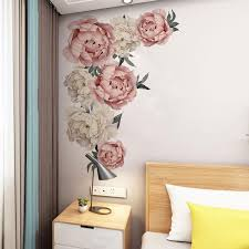 Large Pink Peony Flower Wall Stickers Romantic Flowers Home Decor For Bedroom Living Room Diy Vinyl Wall Decals Wall Art Decals Trees Wall Art Decor Stickers From Trsunrise 4 58 Dhgate Com