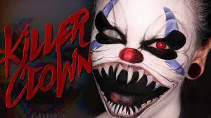 clown halloween makeup tutorial