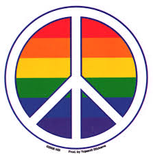 Pride Rainbow Peace Sign Window Sticker Decal Peace Resource Project