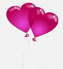 two red heart balloons ilration