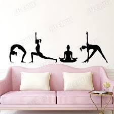 Magical Difficult Yoga Poses Wall Decal Vinyl Sticker Adhesives Poster Yoga Studio Fitness Namaste Home Room Claptrap Decor S113 Wall Stickers Aliexpress