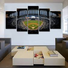 New York Yankees Stadium Canvas Painting 5 Panel Wall Art Uniquely Living