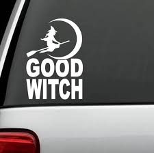 2020 For Good Witch Moon Broom Decal Sticker Greek Triple Goddess Pagan Wiccan Rear Window Car Sticker From Xymy797 3 52 Dhgate Com