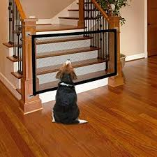 Amazon Com Magic Gate For Dogs Cat Pet Gate Indoor Safety Gates Pet Fence Indoor Outdoor Install Anywhere Safe Guard Safety Pet Enclosure Isolated Gauze Pet Isolation Net Dog Gate For House Indoor