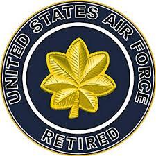 Amazon Com Magnet Us Air Force Retired Major Decal Sticker Military Veteran Served Car Bumper Sticker Magnetic Vinyl 3 8 Automotive