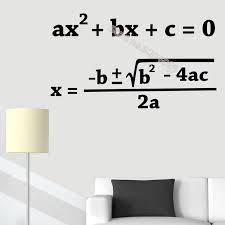 Quadratic Equation Wall Stickers Quadratic Formula Math Vinyl Wall Decal Teacher Education Student Classroom School Decal Graphic Wall Decals Headboard Wall Decal From Joystickers 11 75 Dhgate Com