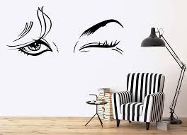 Vinyl Decal Beautiful Woman Beauty Salon Female Eye Makeup Sexy Girl W Wallstickers4you