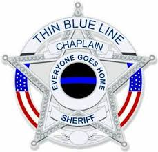 Thin Blue Line Chaplain Sheriff Badge Diamond Style Exterior Window Decal Police Ebay