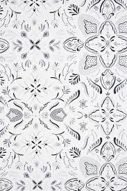 Iva Gray Floral Pattern Wallpaper