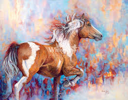 Wildfire Paint Horse Original Acrylic Painting by Valeria Yost ...