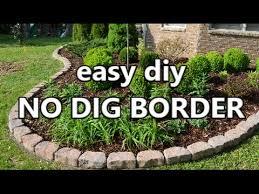easy diy no dig border you