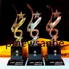 business gifts metal star crystal