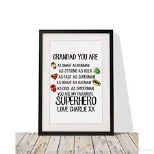 superhero framed print with mount