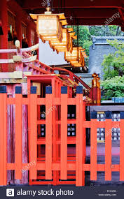 Ornate Asian Style Building And Fence Stock Photo Alamy