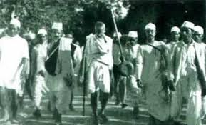 """Marcy 12.1930Gandhi launched the """"salt march"""", the second non ..."""