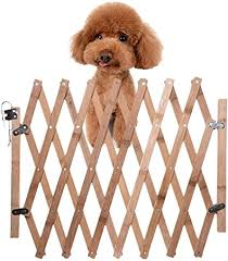 Retractable Pet Gate Wood Dog Sliding Door Indoor Dog Gate Doorway Stairs Puppy Safety Fence Height 48cm Telescopic Length 60 110cm Amazon Co Uk Kitchen Home