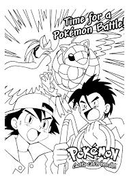 Pokemon In Gevecht Pokemon Kleurplaten Kleurplaat Com