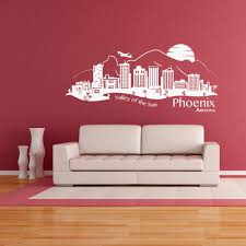 Phoenix City Skyline Wall Decal Style And Apply