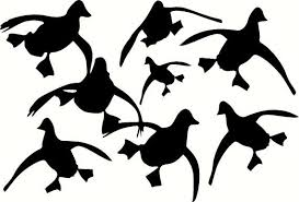 Flying Ducks Wall Decal Vehicle Truck Trailer By Terranomade 4 99 Hunting Decal Wildfowling Duck Silhouette