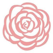 Rose Flower Decal Simple Cute Car Decal Etsy