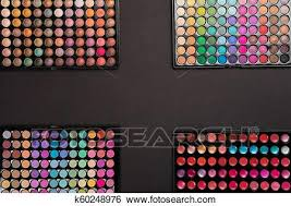 makeup background of colorful eyeshadow