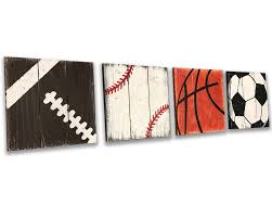 Boys Room Nursery Sports Wall Decor Rusticly Inspired Signs
