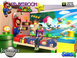Super Mario Kids Bedroom By Jomsims At Tsr Sims 4 Updates