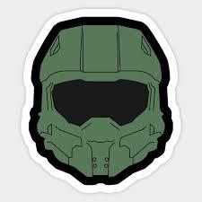 Master Chief Helmet Halo Sticker Teepublic Au