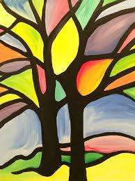 2 2 stained glass tree instructed
