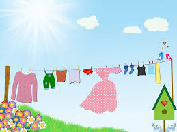 Free photo Birds Knickers Drying Clothesline Clouds Dress - Max Pixel