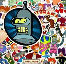 Futurama Bender Leela On Scooter Bumper Sticker Wall Decor Vinyl Decal 5 X 4 5 Vieted Org Vn