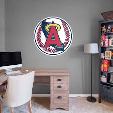 Los Angeles Angels Classic Logo Giant Officially Licensed Mlb Removable Wall Decal