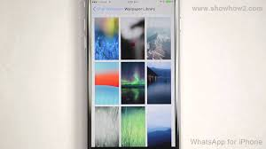 whatsapp for iphone how to set a