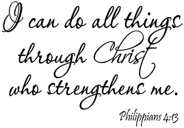 Amazon Com Vwaq I Can Do All Things Through Christ Who Strengthens Me Philippians 4 13 Wall Decal Bible Scripture Christian Wall Art Quote Lettering Home Kitchen