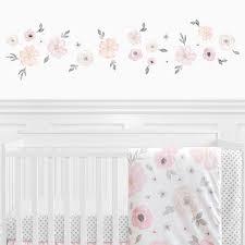 Sweet Jojo Designs Watercolor Floral Wall Decal Reviews Wayfair