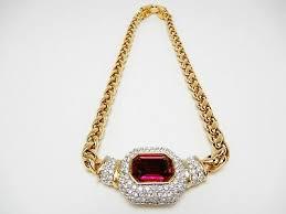 swarovski gold plate chain link