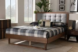 Wholesale Interiors Adela Collection ADELA-GRAY-FULL Modern and  Contemporary Grey Finished Wood Full Size Platform Bed | Discount Bandit