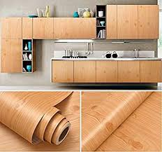 Amazon Com Faux Wood Grain Contact Paper Vinyl Self Adhesive Shelf Drawer Liner For Kitchen Contact Paper Cabinets Kitchen Cabinet Shelves Stick On Wood Wall