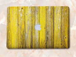 Yellow Wood Skin For Macbook Wood Vinyl Skin Wood Vinyl Skin Etsy
