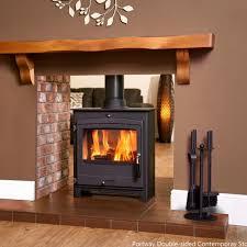 double sided wood burner google