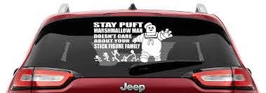 Stay Puft Marshmallow Man Doesn T Care About Your Stick Figure Family Vinyl Decal